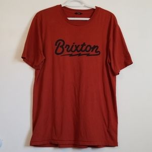 Brixton Dark Orange Short Sleeve TShirt